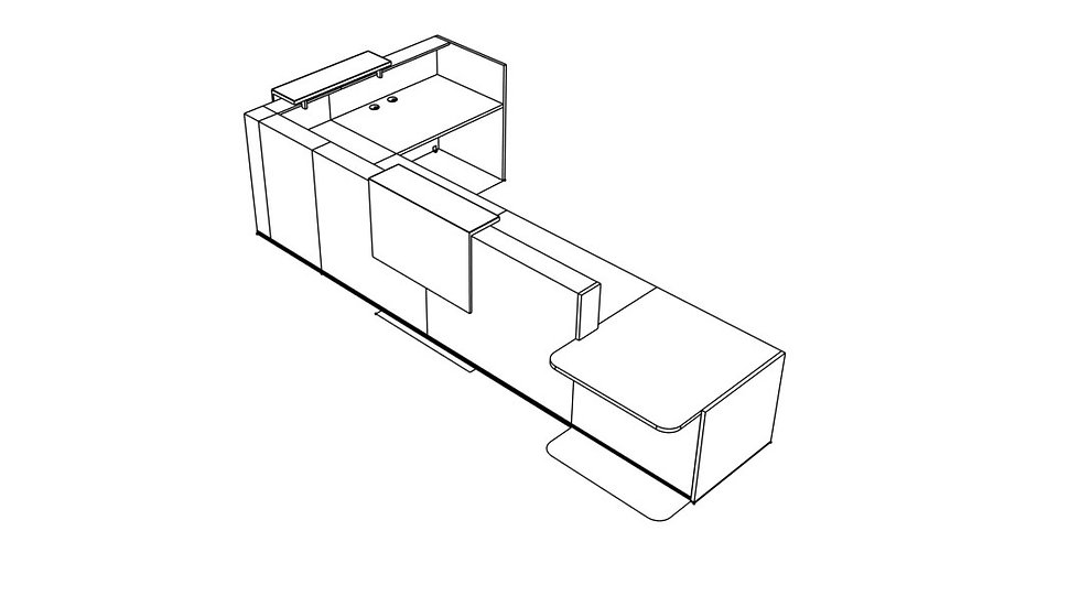 "TERA Reception Desk TRA45P - Low/High 183 2/8"""