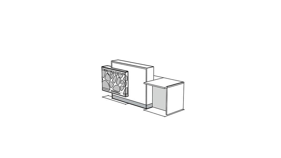 ORGANIC Reception Desk LOG14PPG