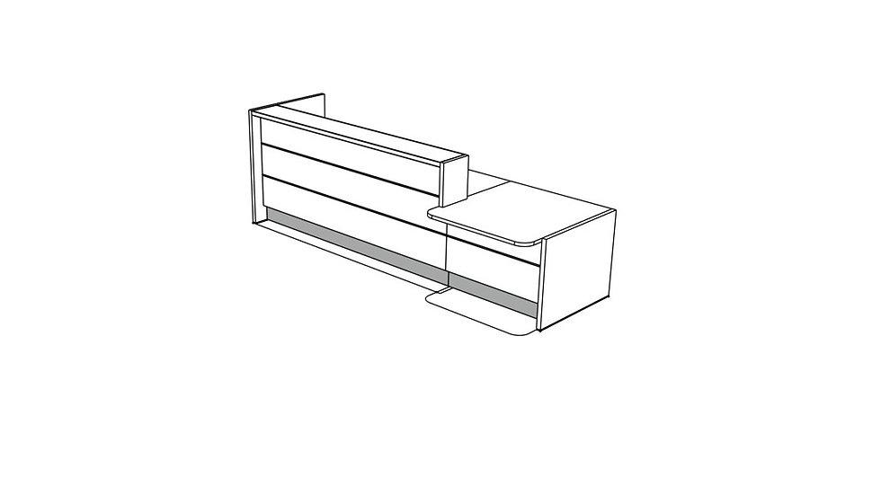 """VALDE Reception Desk LAV23L - 132 4/8"""""""