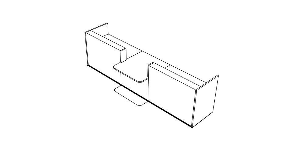 """TERA Reception Desk TRA135 - 151 6/8"""""""