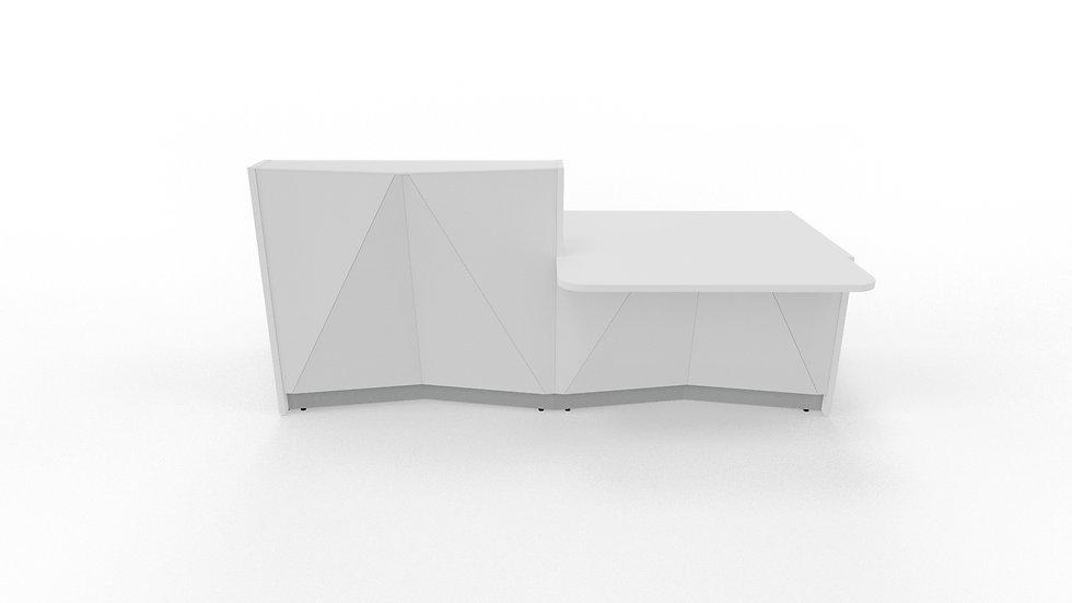 """ALPA Reception Desk ALP21L - 96 3/4"""" Length"""