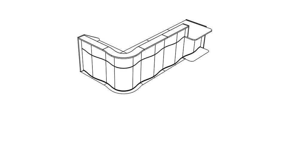 "WAVE Reception Desk LUV46L - 147 5/8"""