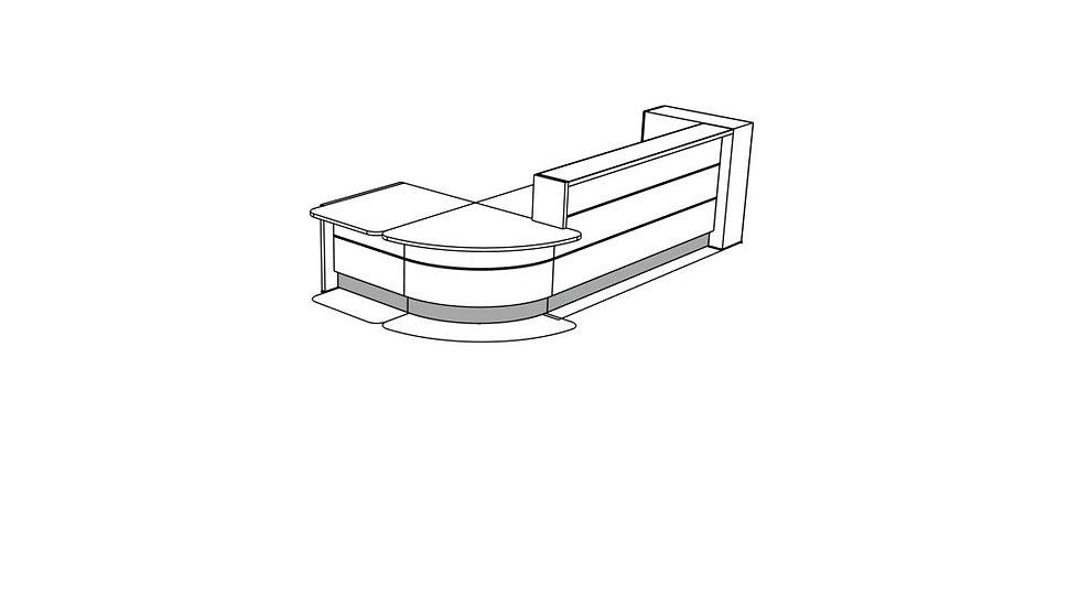 VALDE Reception Desk LAV1291L