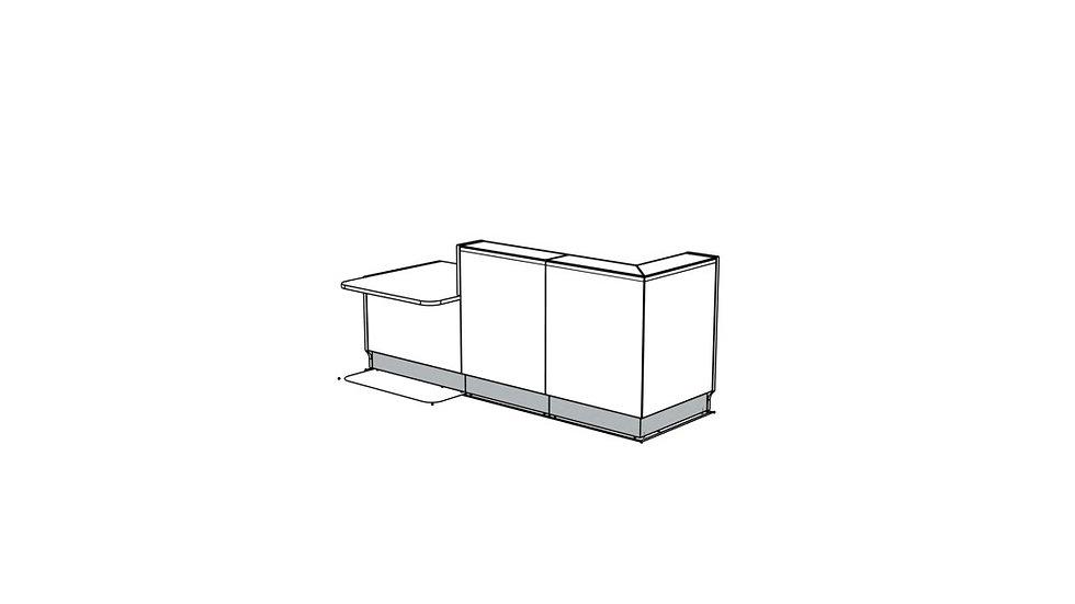 """LINEA Reception Desk LIN35P - 104 3/8"""""""