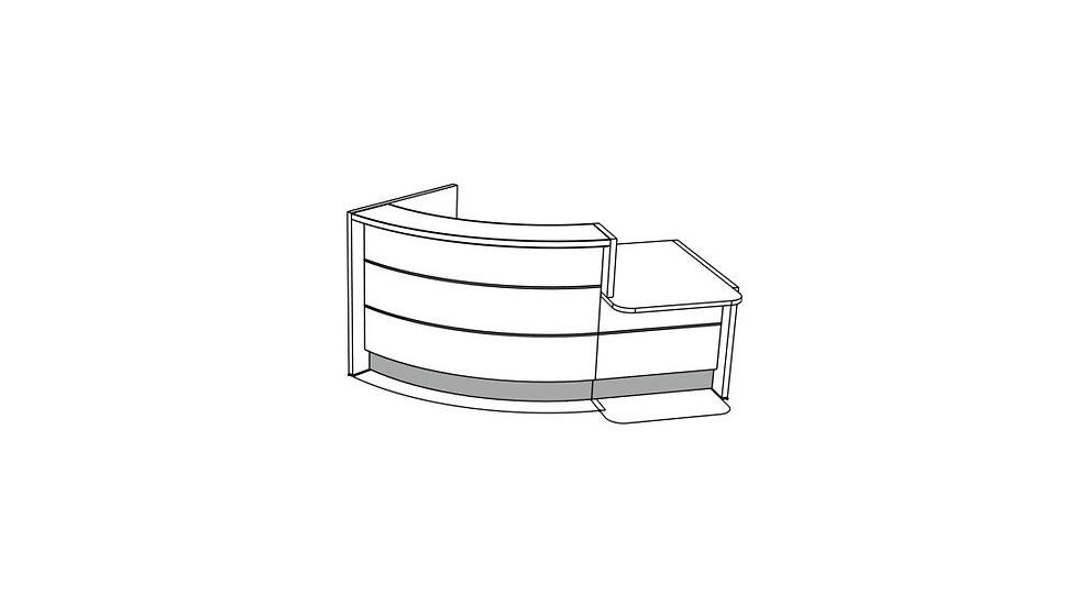 """VALDE Reception Desk LAV851L - 88 2/8"""""""