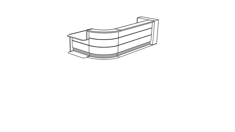 VALDE Reception Desk LAV159L