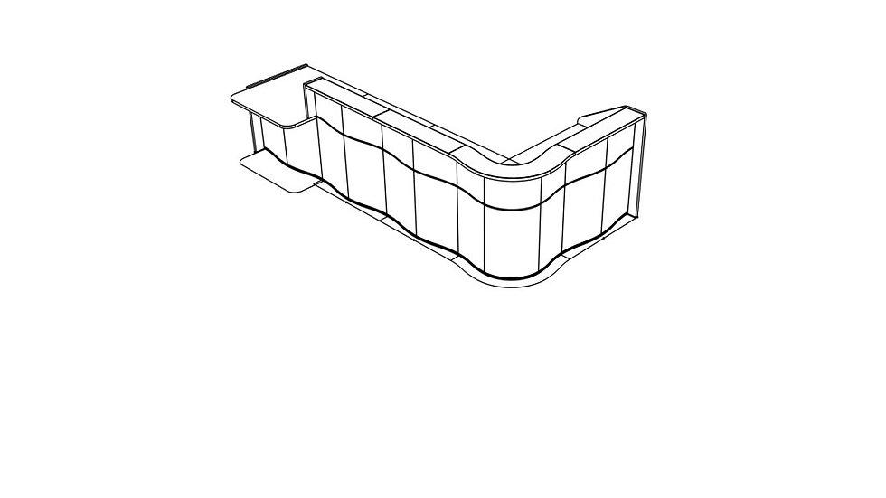 """WAVE Reception Desk LUV46P - 147 5/8"""""""