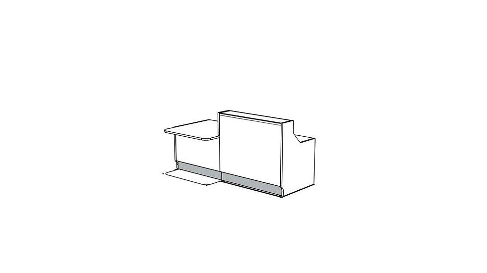 """LINEA Reception Desk LIN34P - 88 7/8"""""""