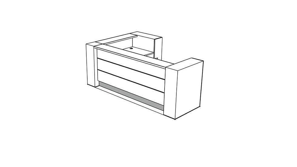 VALDE Reception Desk LAV16L