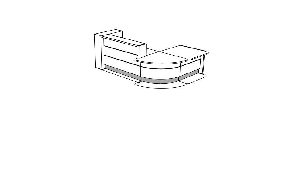 VALDE Reception Desk LAV128L