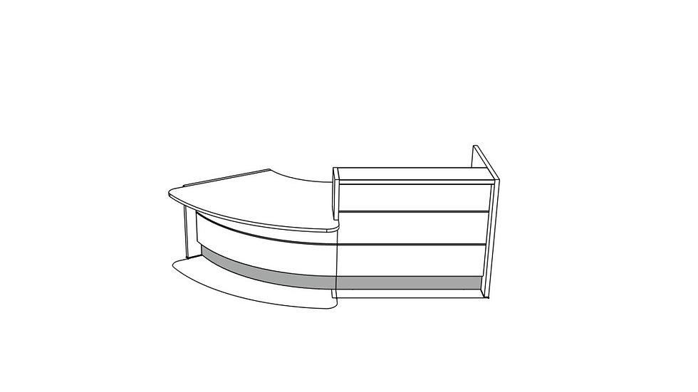 VALDE Reception Desk LAV89L - 112""