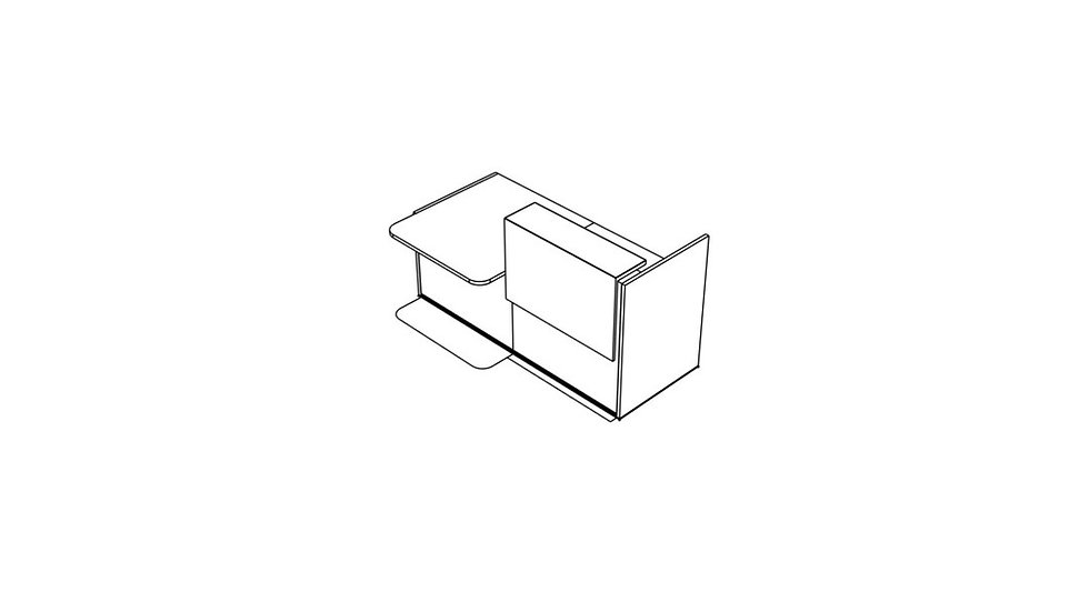 "TERA Reception Desk TRA36L - Low/High 81"" Length"