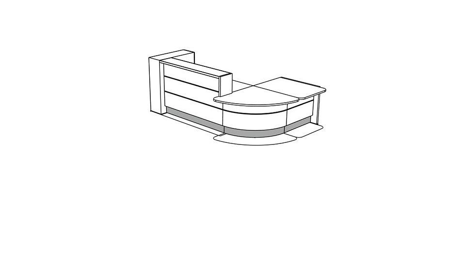 VALDE Reception Desk LAV1281L