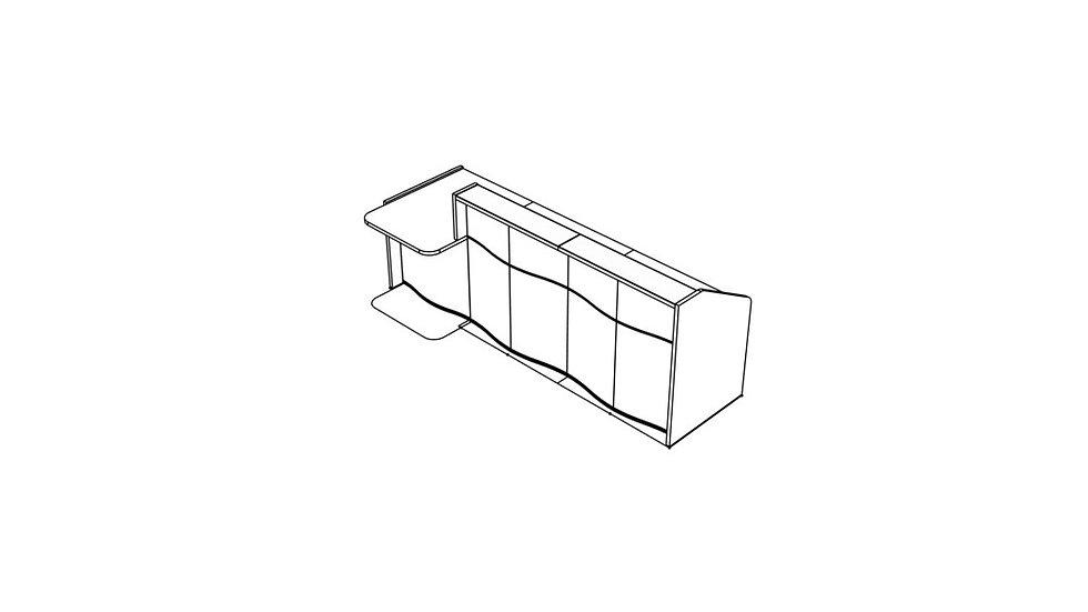 """WAVE Reception Desk LUV301P - 108 7/8"""""""