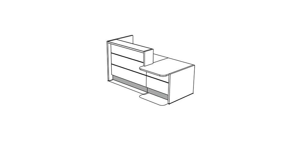 """VALDE Reception Desk LAV191L - 85 2/8"""""""