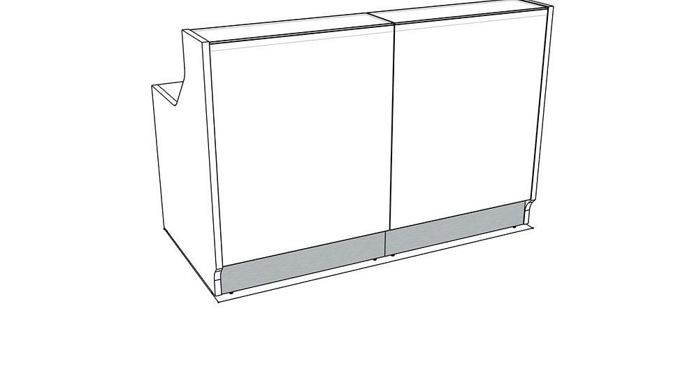 "LINEA Reception Desk LIN15 -  65 2/8"" Length"