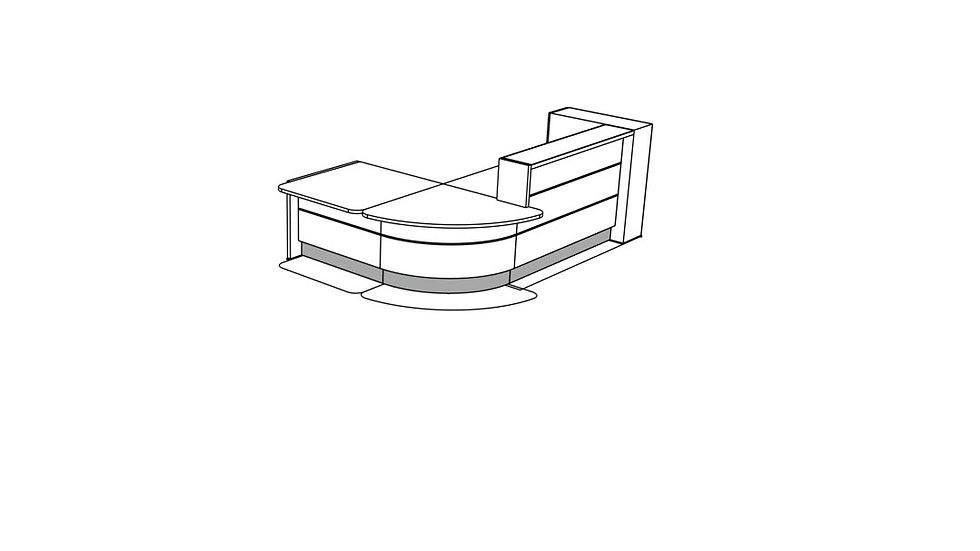 VALDE Reception Desk LAV127L