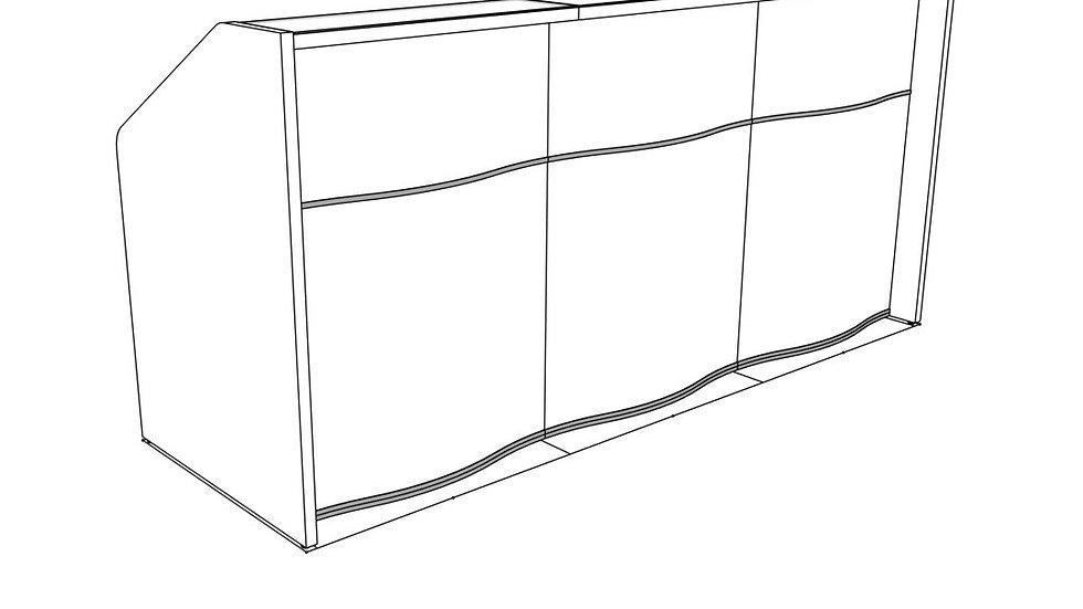 "WAVE Reception Desk LUV15 - 90 3/4"" Length"