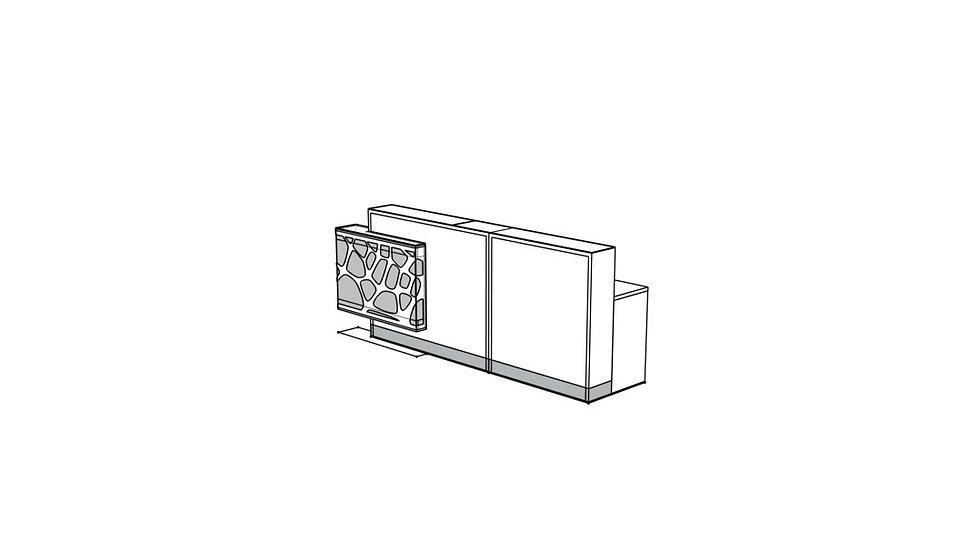 "ORGANIC Reception Desk LOG19PG - 106 2/8"""