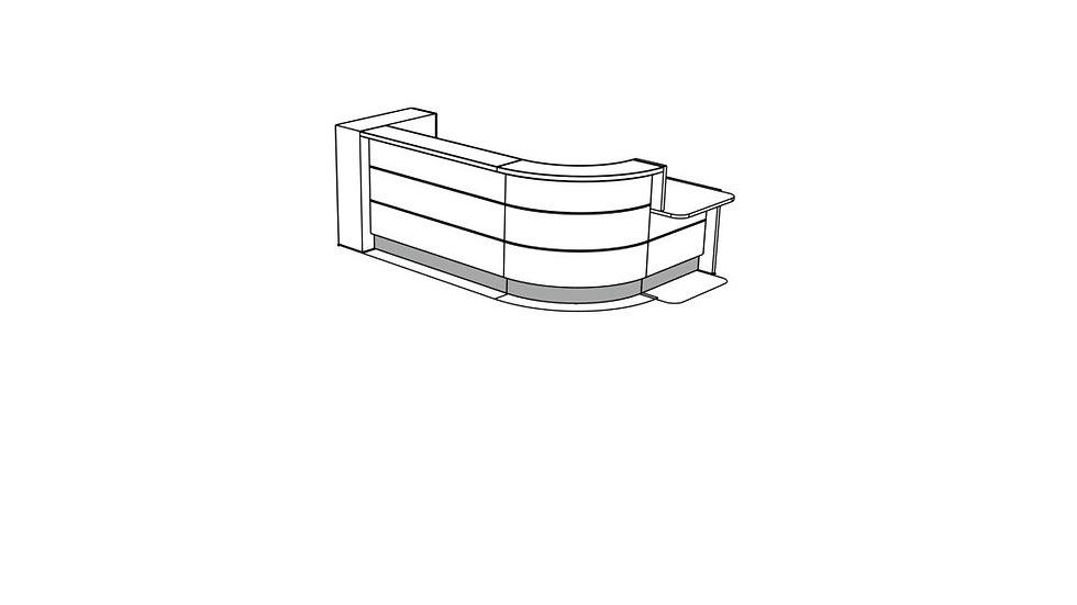 VALDE Reception Desk LAV1581L
