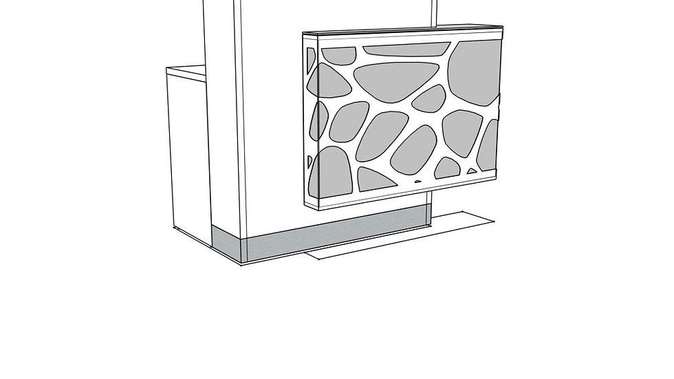 "ORGANIC Reception Desk LOG11LG - 51 1/8"" Length (Right facing)"
