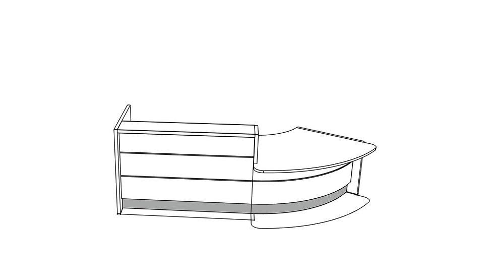 """VALDE Reception Desk LAV91L - 123 7/8"""""""