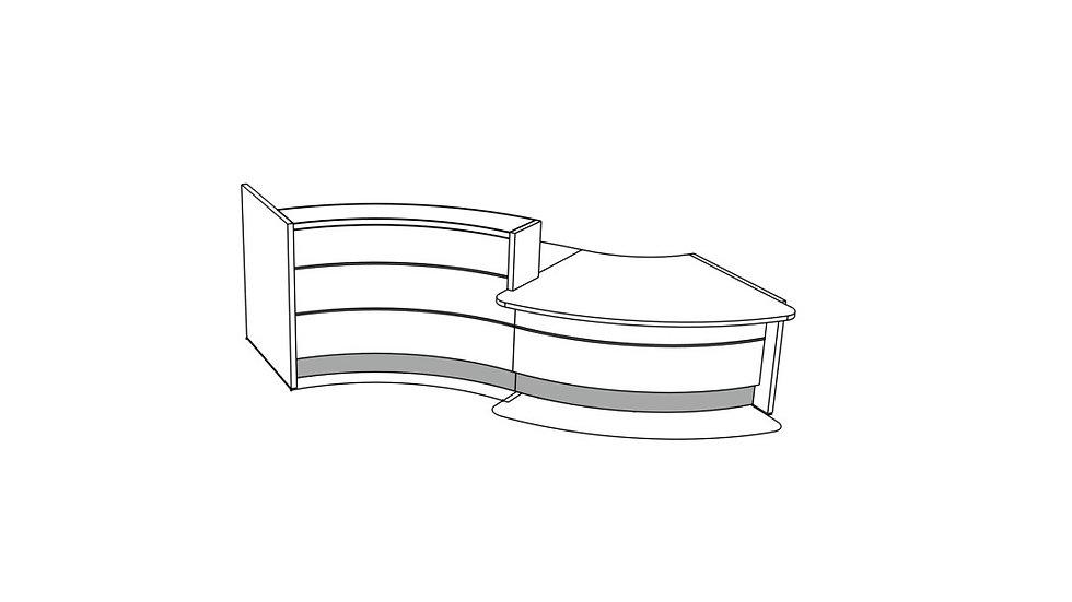 """VALDE Reception Desk LAV32L - 135 7/8"""""""