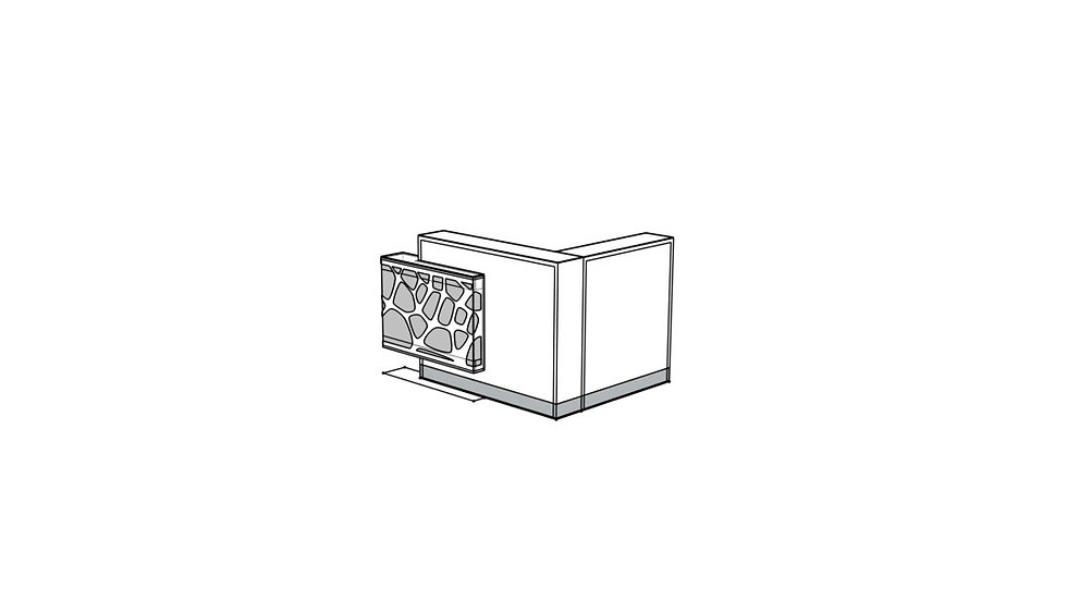 ORGANIC Reception Desk LOG18PG
