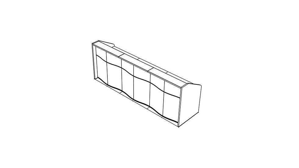 """WAVE Reception Desk LUV16 - 116 6/8"""""""