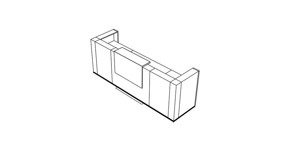 """TERA Reception Desk TRA24 - 119 5/8"""" Length"""