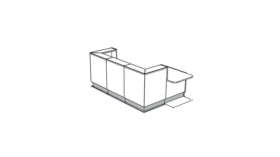 "LINEA Reception Desk LIN411L -  108"""
