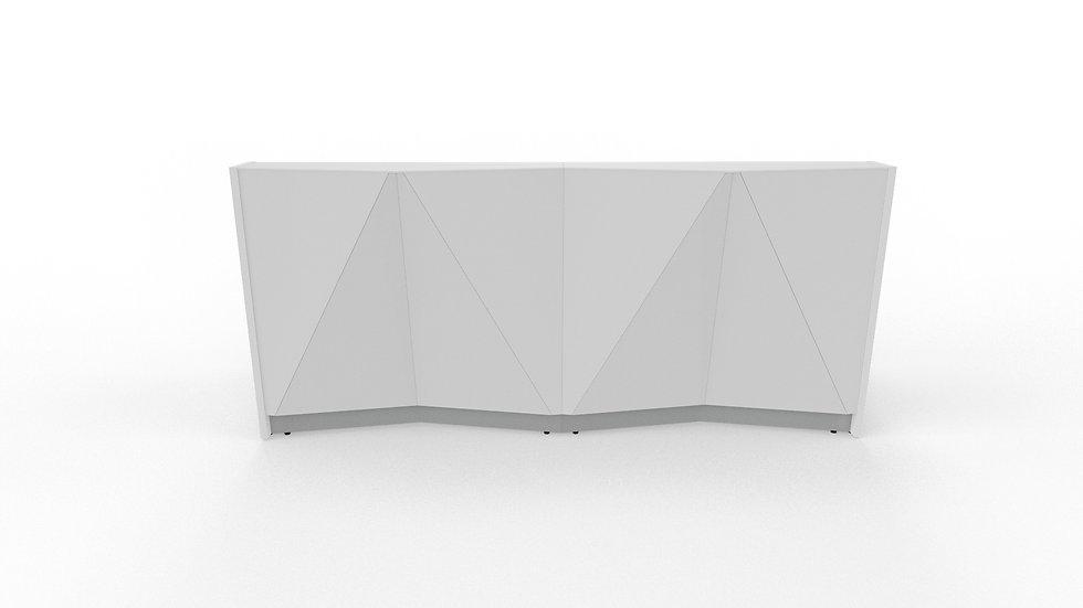 """ALPA Reception Desk ALP06 - 96 3/4"""" Length"""