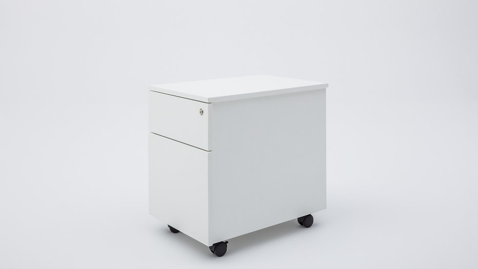 MODERN MOBILE PEDESTAL - 2 DRAWER / FILE DRAWER