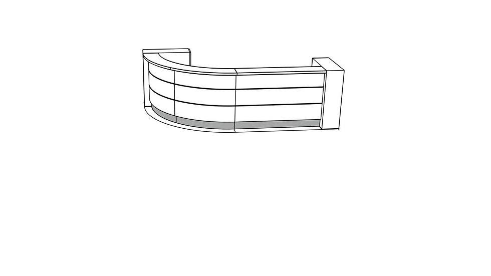 """VALDE Reception Desk LAV58L - 138 1/8"""""""
