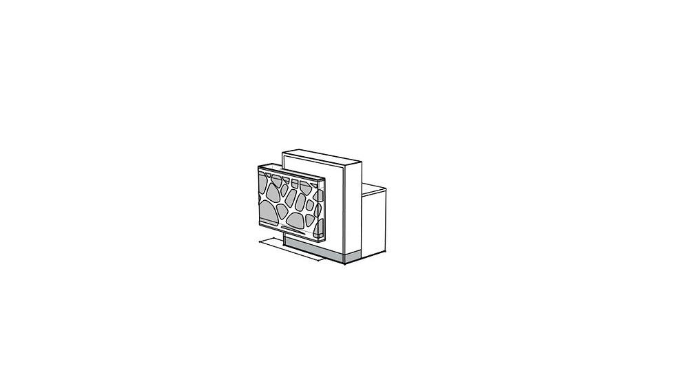 "ORGANIC Reception Desk  LOG11PG -51 1/8"""