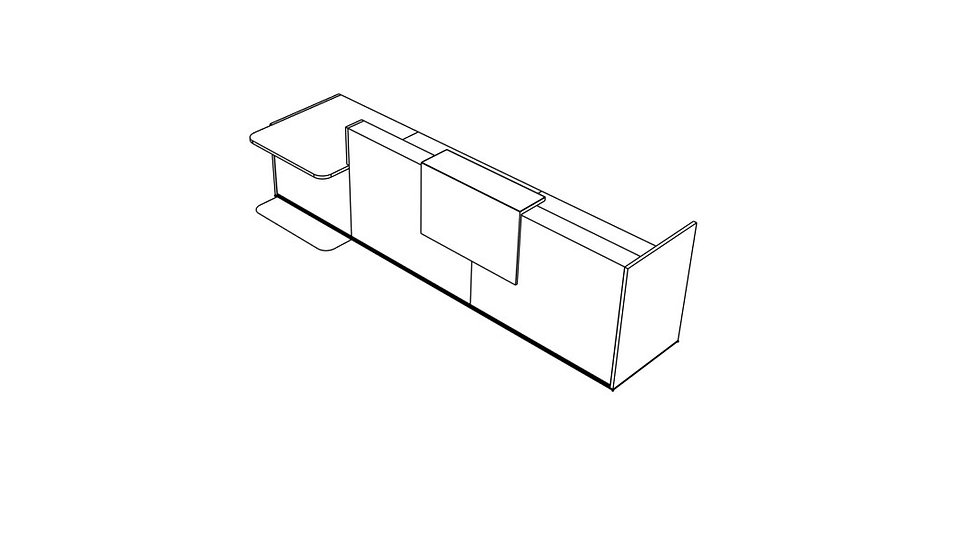 "TERA Reception Desk TRA41L - Low/High 151 6/8"""