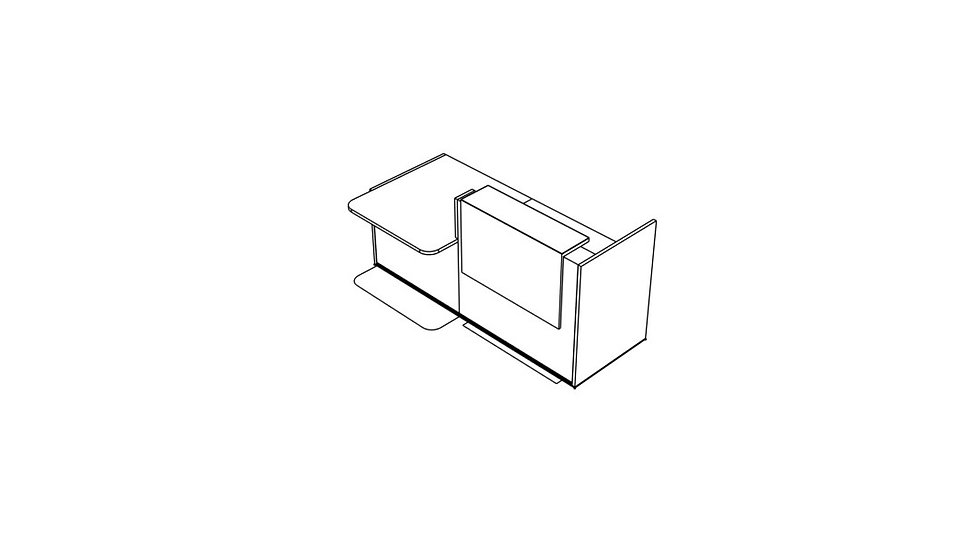 "TERA Reception Desk TRA37L - Low/High 88 7/8"""