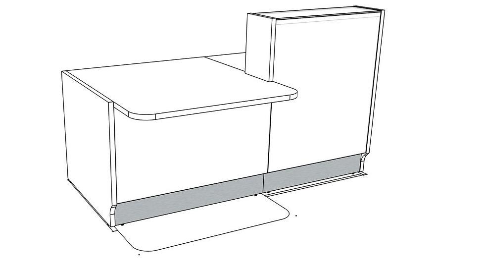 "LINEA Reception Desk LIN33P -  73 1/8"" Length"