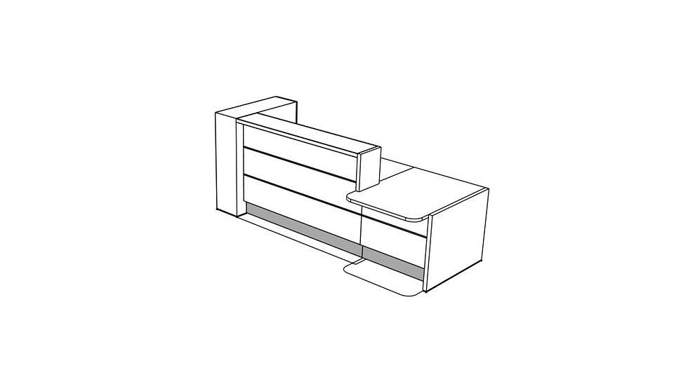 """VALDE Reception Desk LAV431L - 108 1/8"""""""