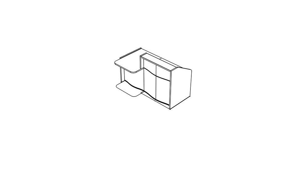"""WAVE Reception Desk LUV281P - 69 7/8"""""""