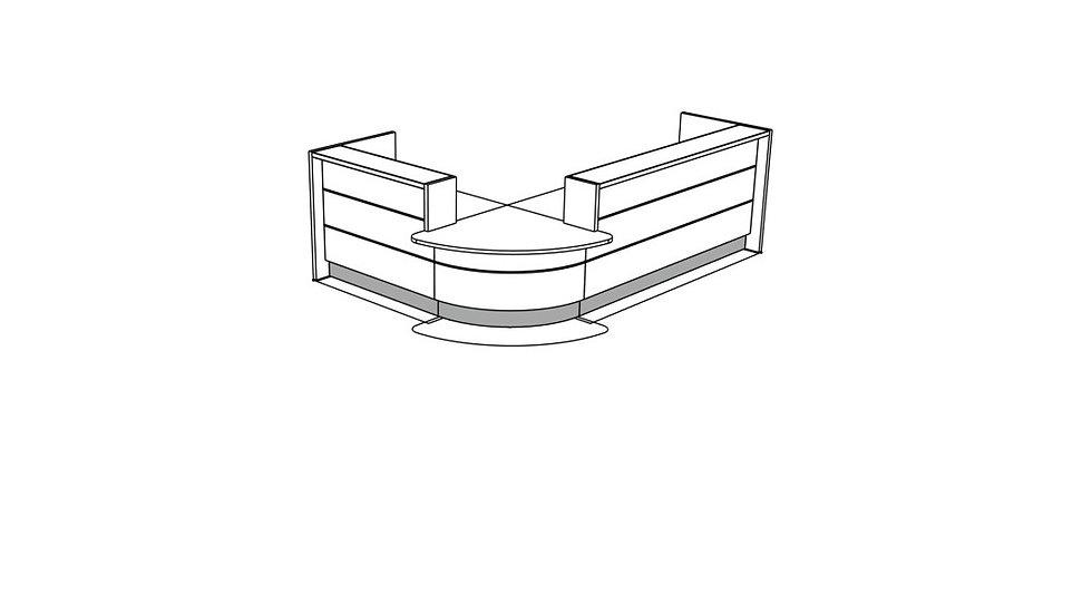 VALDE Reception Desk LAV103L