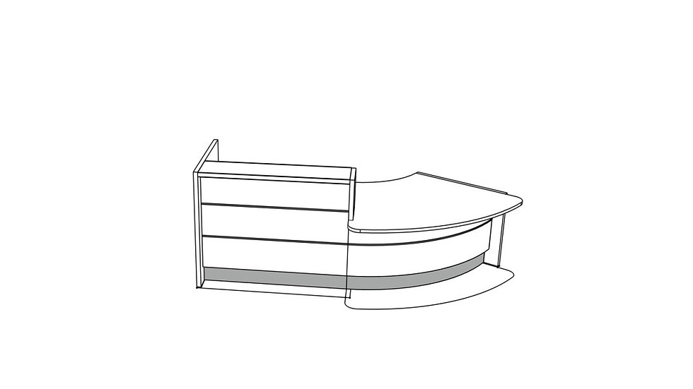 """VALDE Reception Desk LAV88L - 112"""""""