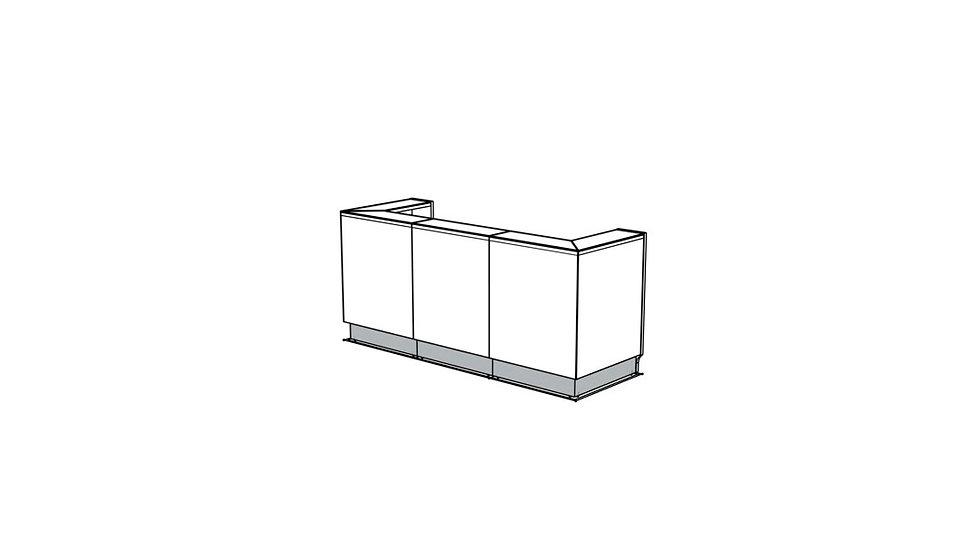 """LINEA Reception Desk LIN42 - 96 2/8"""""""
