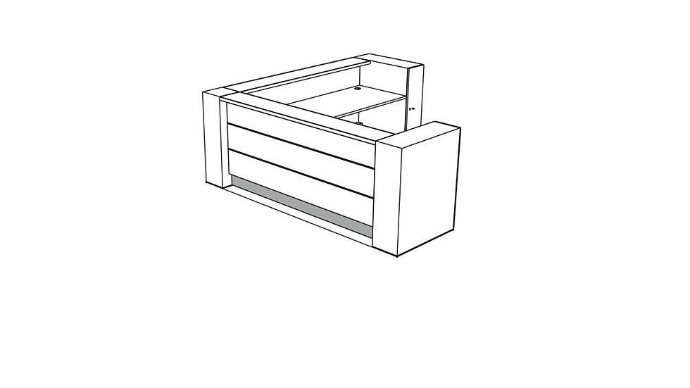 VALDE Reception Desk LAV18L
