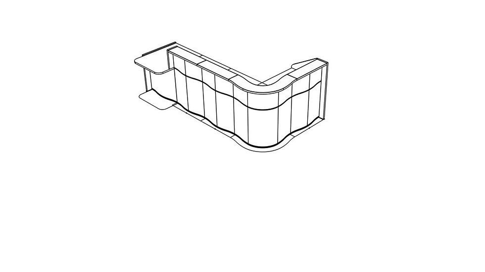 """WAVE Reception Desk LUV451P - 122 4/8"""""""