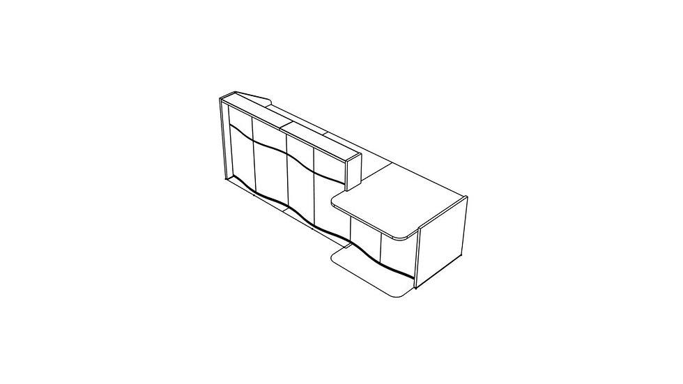 "WAVE Reception Desk LUV30L - 116 6/8"""