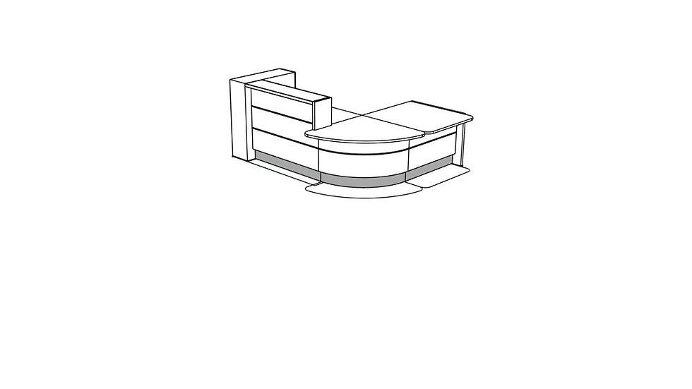 VALDE Reception Desk LAV126L
