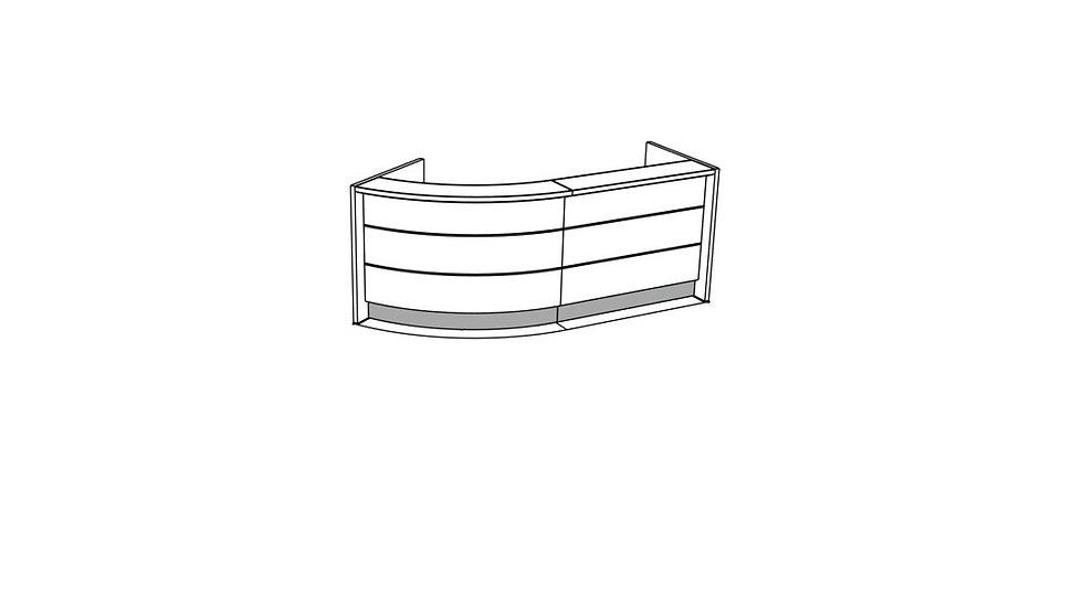 """VALDE Reception Desk LAV79L - 107 5/8"""""""