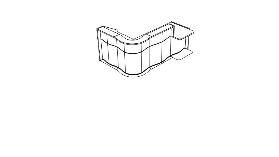 "WAVE Reception Desk LUV401L - 101 5/8"""