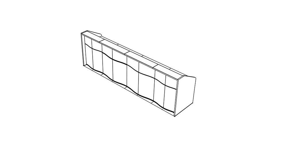 """WAVE Reception Desk LUV21 - 137 5/8"""""""